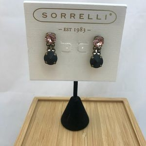 Sorrelli Black and Blush Earrings
